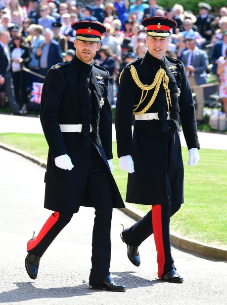 Les princes Harry et Williams. | 19 mai 2018