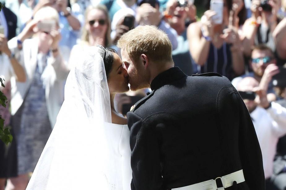 Meghan Markle et le prince Harry après la cérémonie. | 19 mai 2018