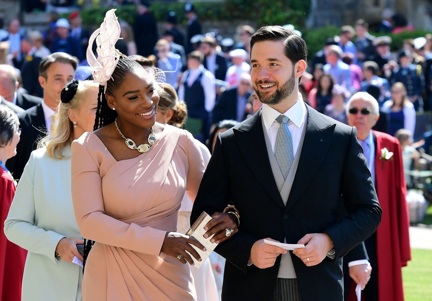 Serena Williams et son mari Alexis Ohanian. | 19 mai 2018