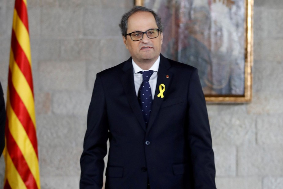 Quim Torra... (Photo Alberto Estevez, REUTERS)