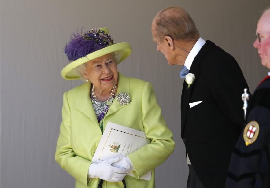 La reine Élisabeth II et le prince Philip. | 19 mai 2018