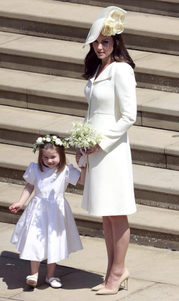 La duchesse de Cambridge, Kate Middleton, et sa fille, la princesse Charlotte. | 19 mai 2018
