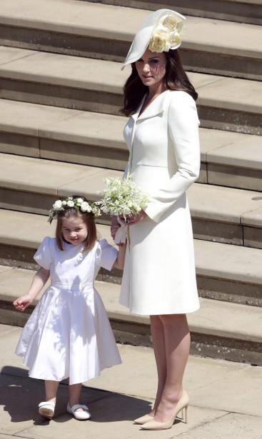 La duchesse de Cambridge, Kate Middleton, et sa fille, la princesse Charlotte. | 19 mai 2018