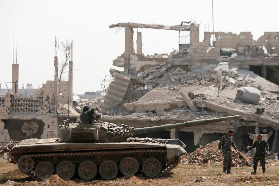 Le cessez-le-feu concerne notamment des combattants de l'EI... (Photo Omar Sanadiki, archives REUTERS)