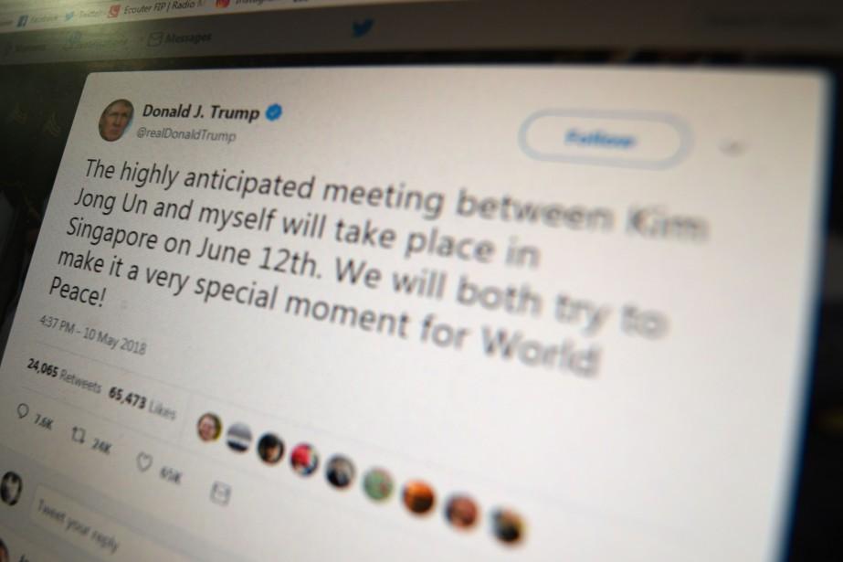 La possibilité de réagir aux fréquents tweets présidentiels,... (Photo Eric BARADAT, archives Agence France-Presse)