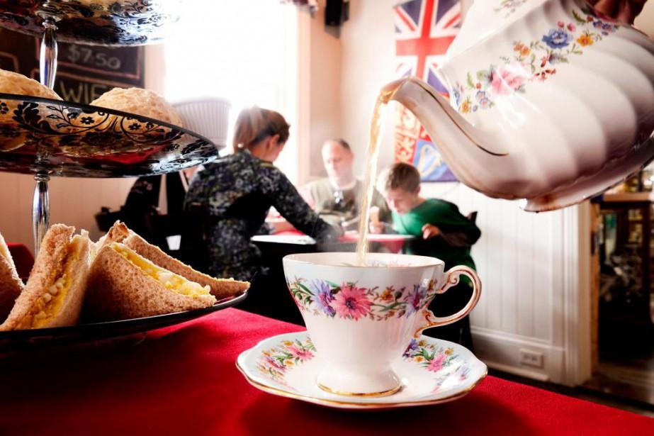 Le thé de l'après-midi chez Clarence & Cripps,... (Photo Bernard Brault, La Presse)