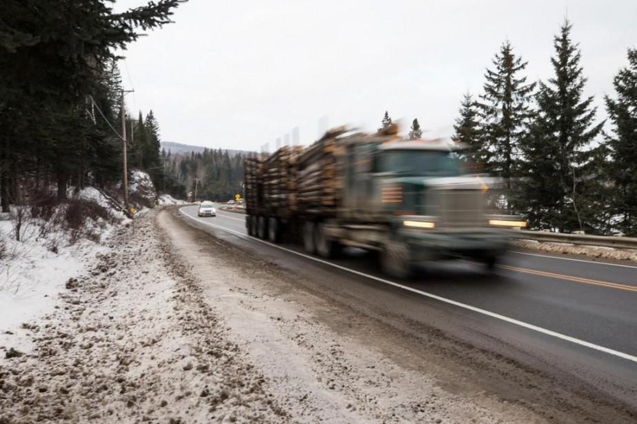 Une des routes les plus dangereuses au Québec, laroute117, dans
