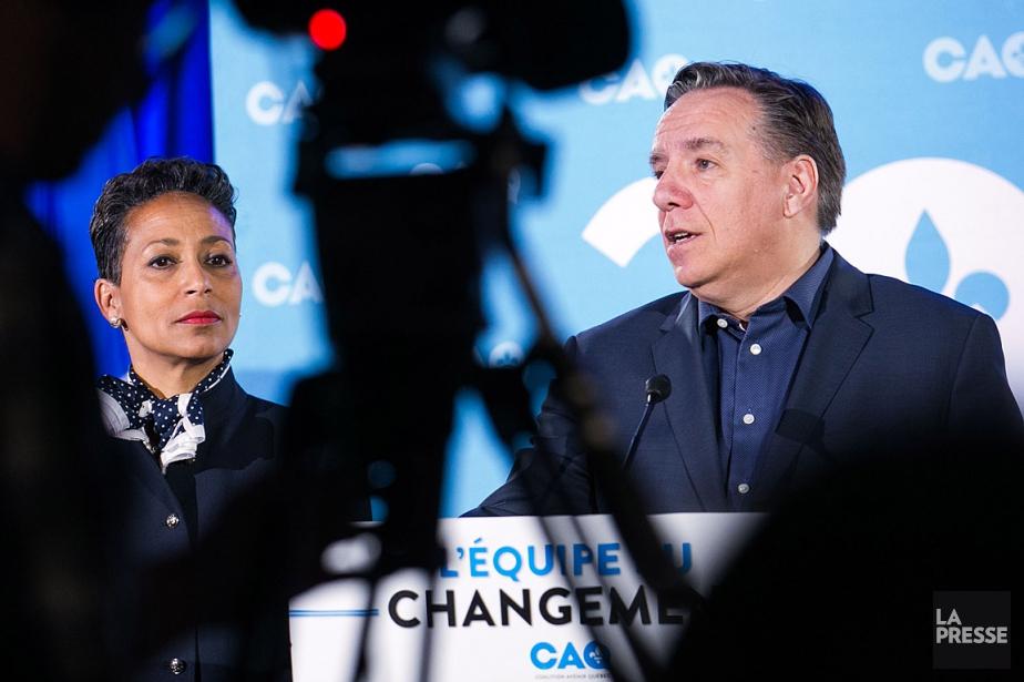 Le chef de la Coalition avenir Québec François... (PHOTO MARTIN TREMBLAY, LA PRESSE)