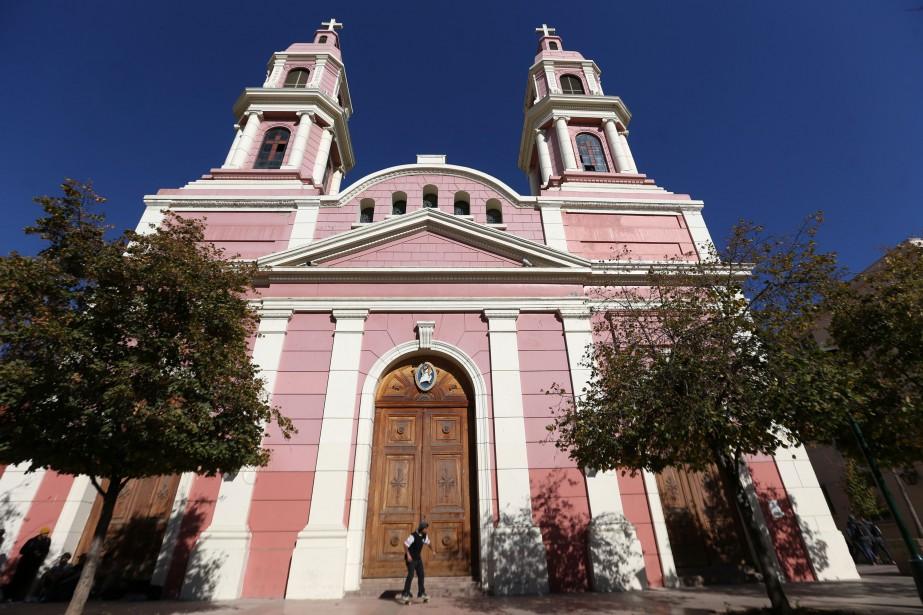 La cathédrale deRancagua... (PHOTO CLAUDIO REYES, AFP)