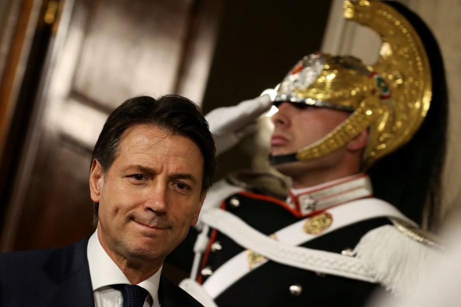 Le chef du gouvernement italien désigné, Giuseppe Conte.... (PHOTO REUTERS)