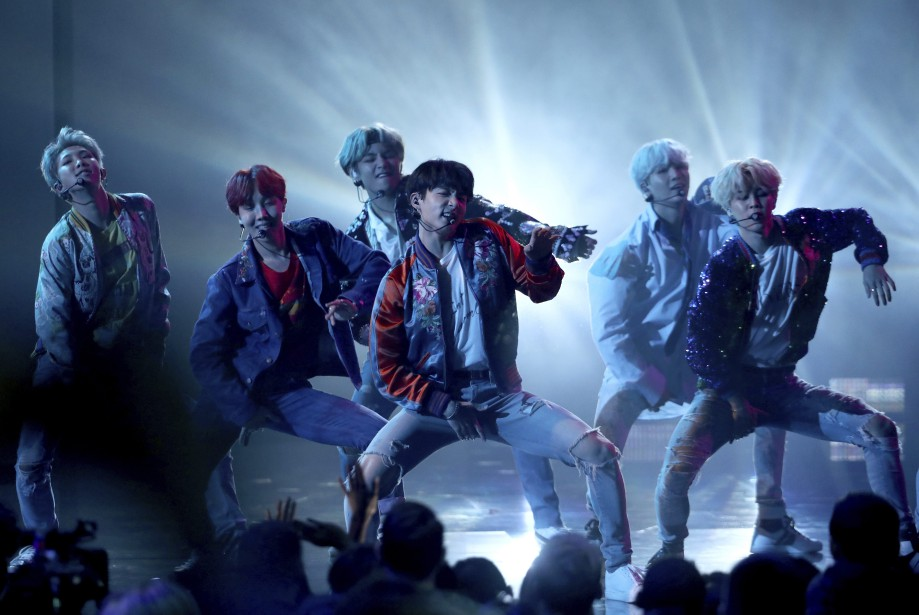 BTS lors des American Music Awards à Los... (ARCHIVES AP)
