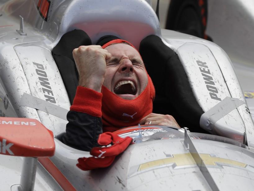 L'Australien Will Power célèbre sa victoire aux 500 milles d'Indianapolis dimanche dernier. (AP)