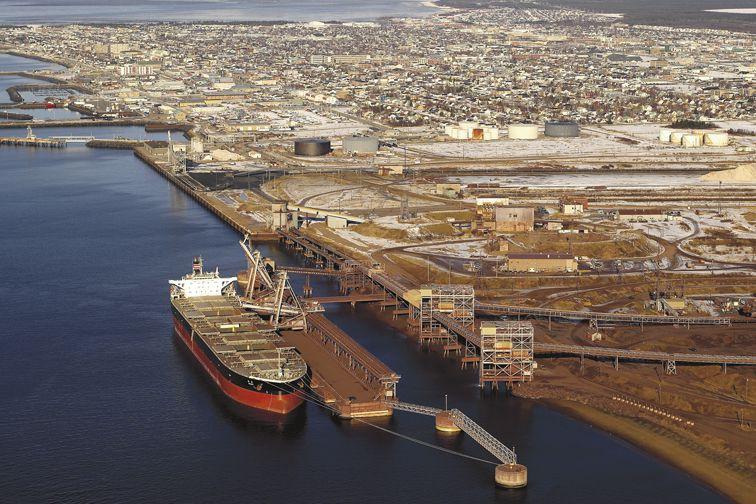 Les installations portuaires de l'entreprise minière IOC à... (PHOTO FOURNIE PAR IOC)