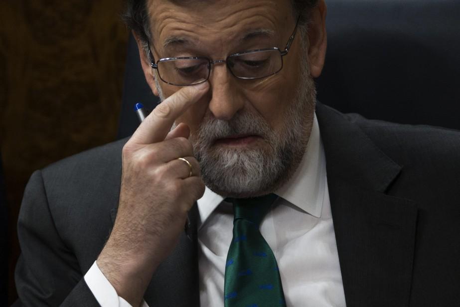 Le chef du gouvernement conservateur espagnol Mariano Rajoy.... (AP)