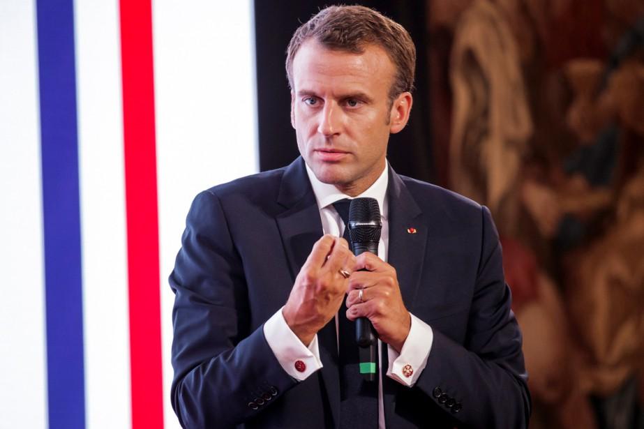 Emmanuel Macron a «déploré» jeudi l'application par les... (Photo reuters)