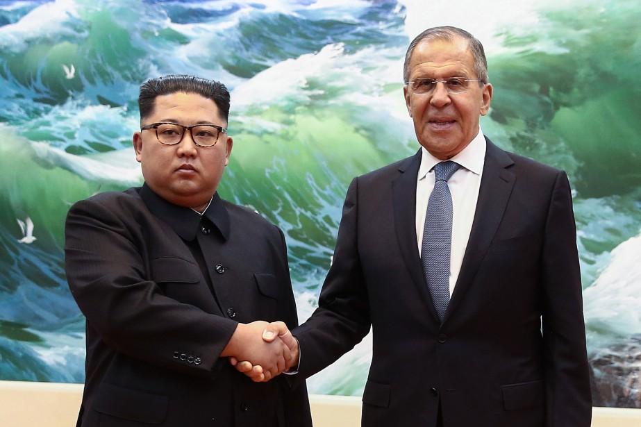 Kim Jong-un a rencontré jeudi à Pyongyang le... (PHOTO AFP)