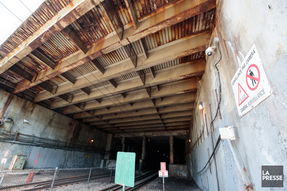 Le pont d'étagement de la rue Jean-Talon, un... (PHOTO HUGO-SÉBASTIEN AUBERT, LA PRESSE)