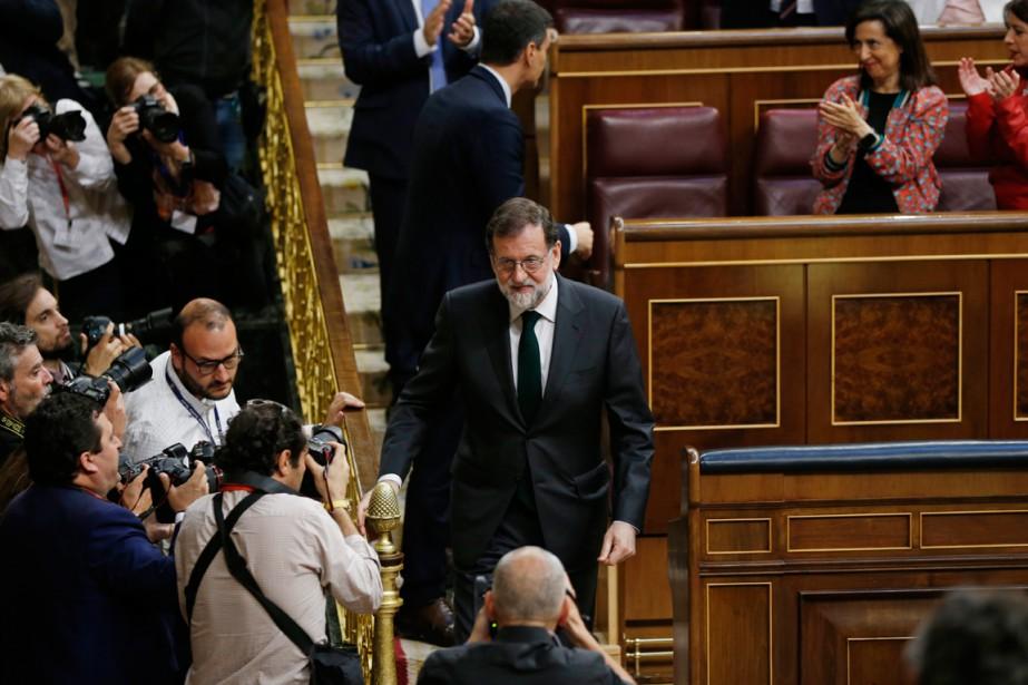 La motion de censure contre Mariano Rajoy a... (PHOTO ASSOCIATED PRESS)