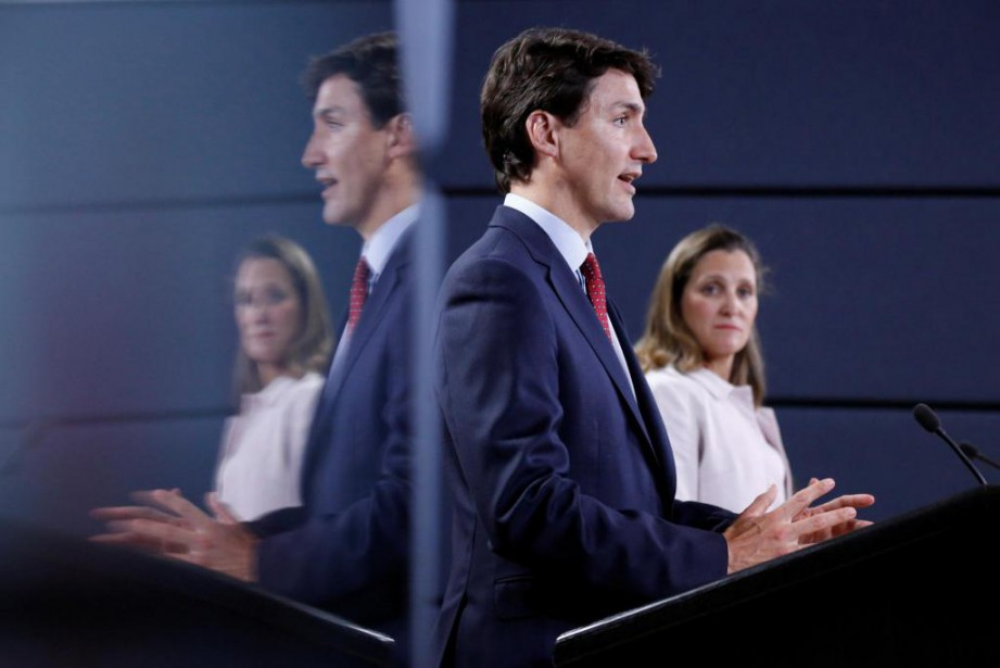 Le premier ministre du Canada, Justin Trudeau, et... (Photo Chris Wattie, Reuters)