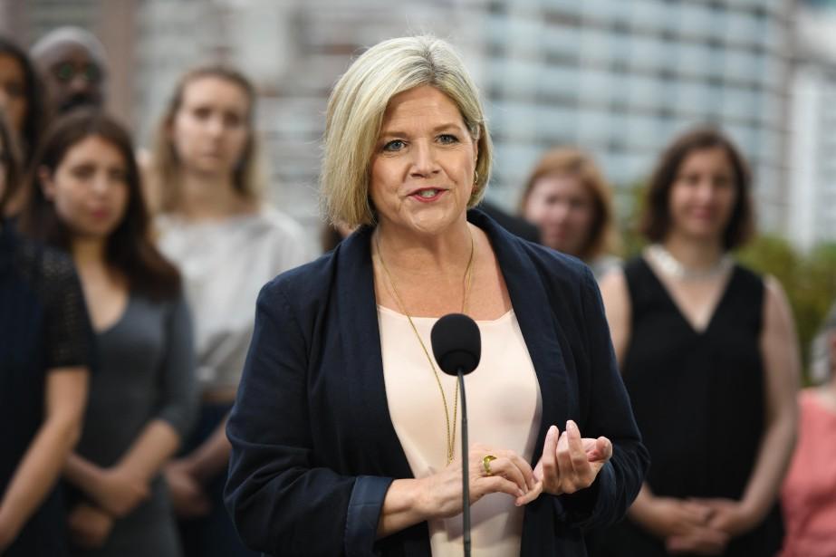 S'exprimant lors d'une escale électorale à Toronto, AndreaHorwath... (Photo Galit Rodan, La Presse canadienne)