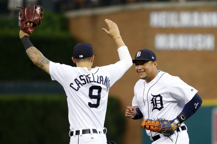 Nicholas Castellanos a cogné trois coups sûrs lors... (PHOTO Paul Sancya, AP)