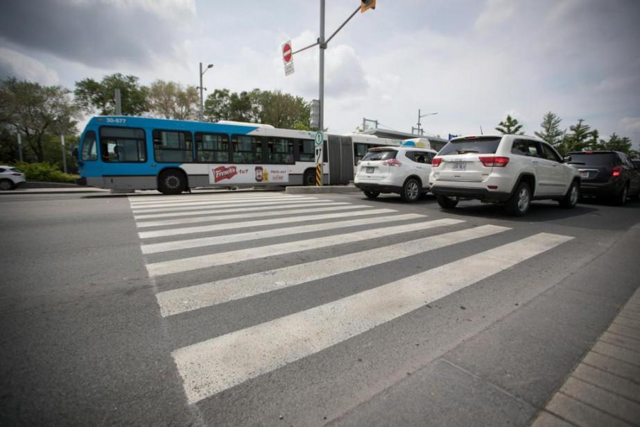 Les travaux d'aménagement du service rapide par bus... (PhotoIVANOH DEMERS, LA PRESSE)