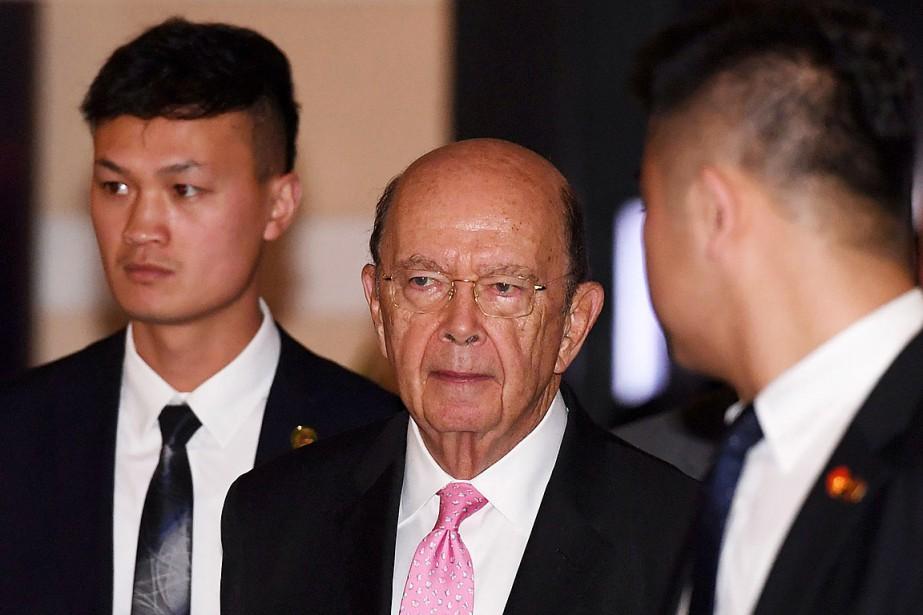 Le secrétaire américain au Commerce, Wilbur Ross, doitmener... (PHOTO GREG BAKER, AGENCE FRANCE-PRESSE)