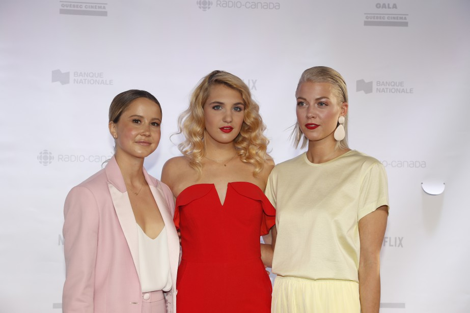 Juliette Gosselin, Sophie Nélisse et Catherine St-Laurent. | 3 juin 2018