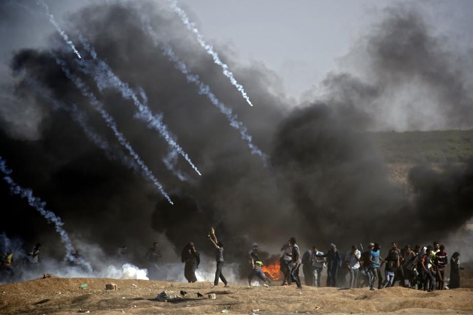 Au moins 125 Palestiniens ont été tués par... (Photo Agence France-Presse)