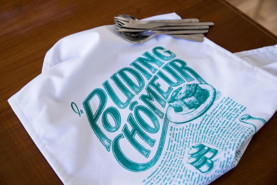 L'histoire imprimée sur cette nouvelle serviette de cuisine... (Photo Marco Campanozzi, La Presse)