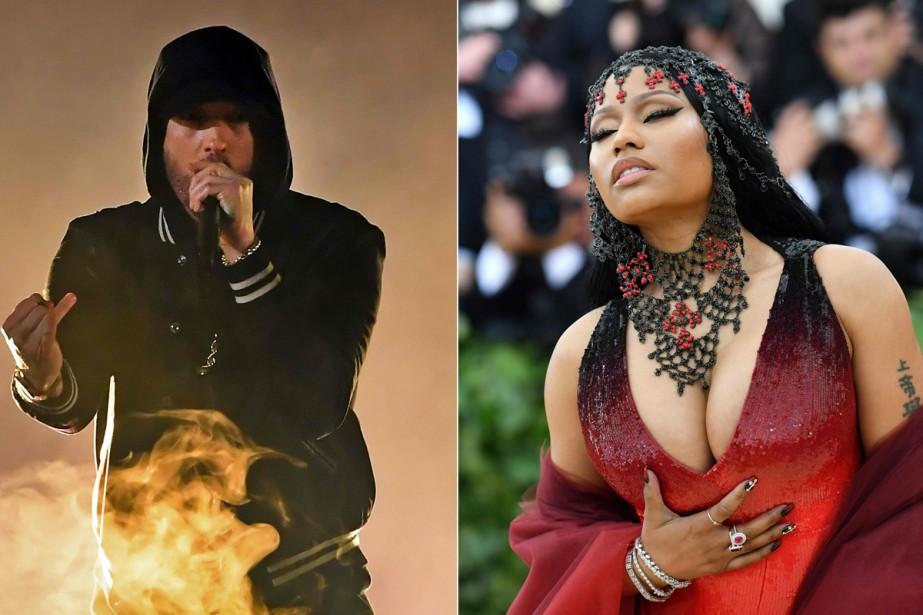 Eminem a alimenté dimanche les rumeurs lui prêtant... (Photo AFP)