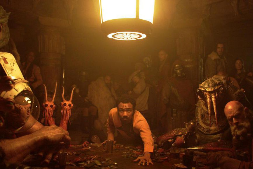 Donald Glover dans Solo : A Star Wars Story... (Photo Jonathan Olley, fournie par Lucasfilm, Associated Press)
