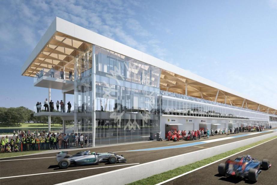 Le circuit Gilles-Villeneuve se dotera de nouvelles installations... (Photo Société du parc Jean-Drapeau)