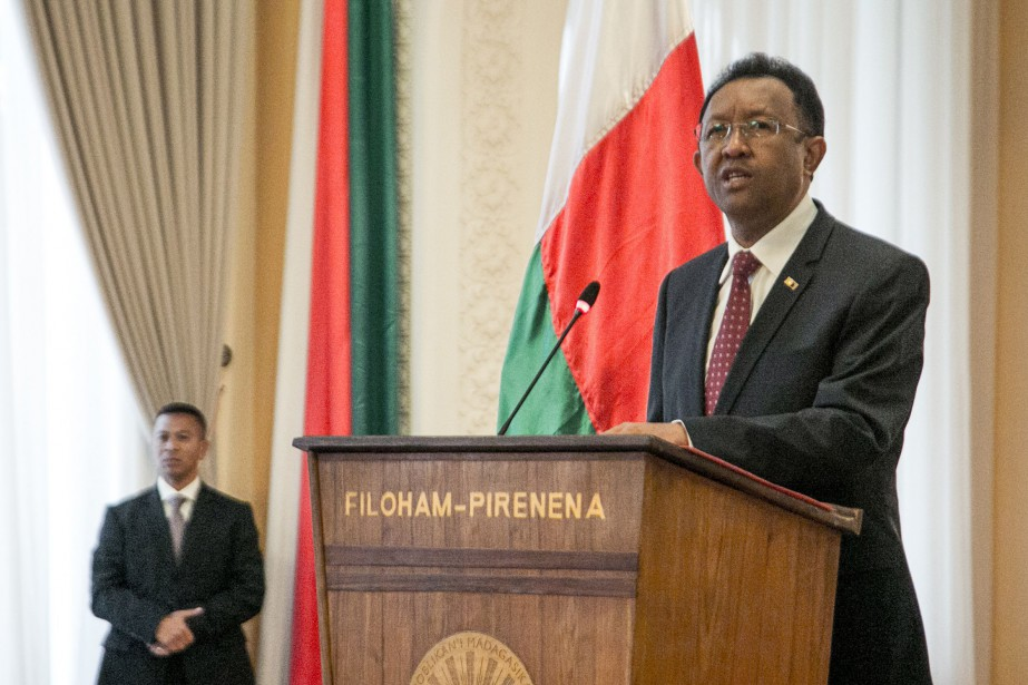 Le président Hery Rajaonarimampianina, élu fin 2013, n'a... (Photo Agence France-Presse)