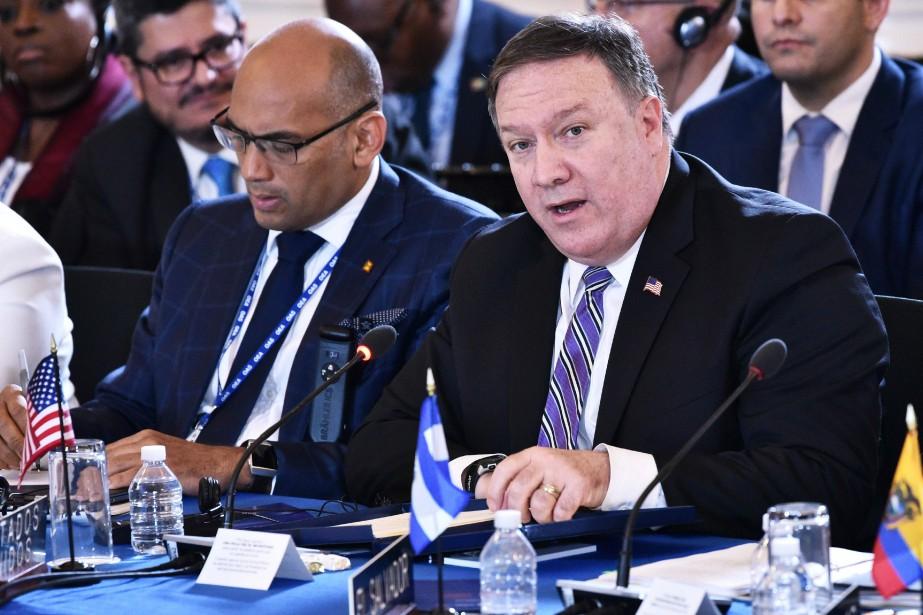 Lors de l'Assemblée générale annuelle de l'OEA à... (Photo Mandel Ngan, Agence France-Presse)