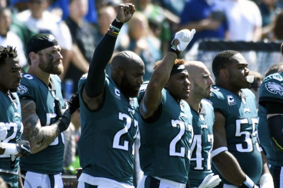 «Les Eagles de Philadelphie ne peuvent pas venir... (Photo Robert Hanashiro, archives USA Today Sports)