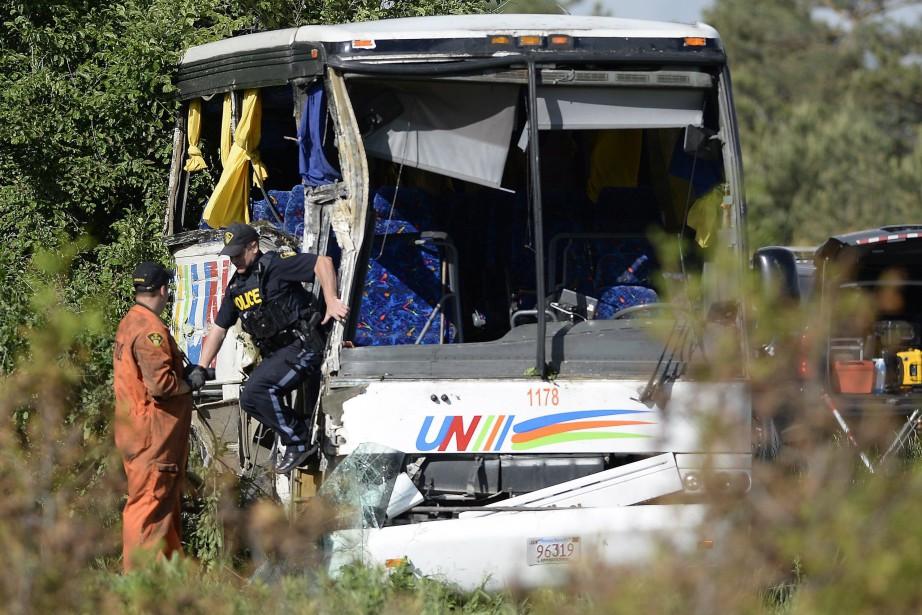 L'accident a eu lieu sur l'autoroute 401, entre... (PHOTO PC)