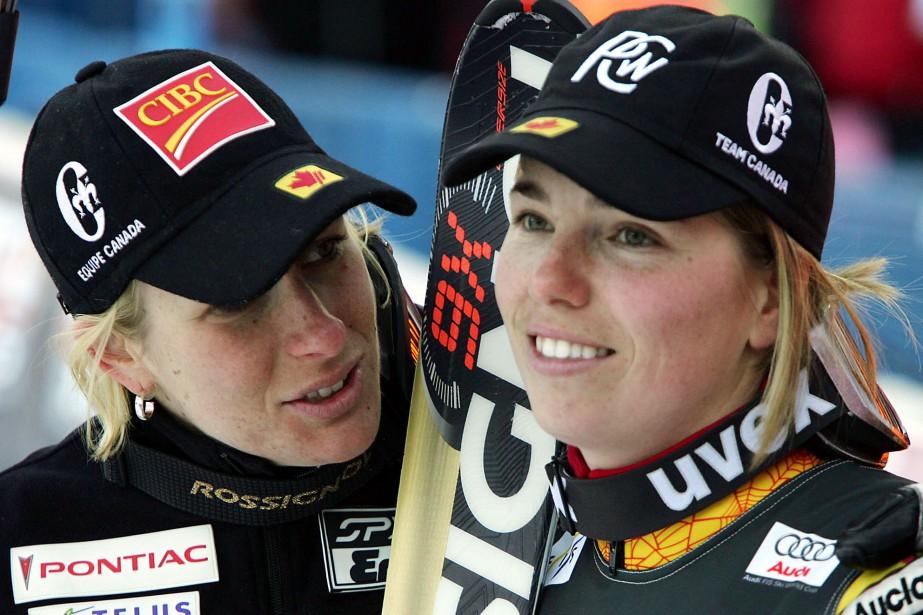 Allison Forsyth (à gauche) et Geneviève Simard, lors... (Photo Alex Trovati, archives Associated Press)