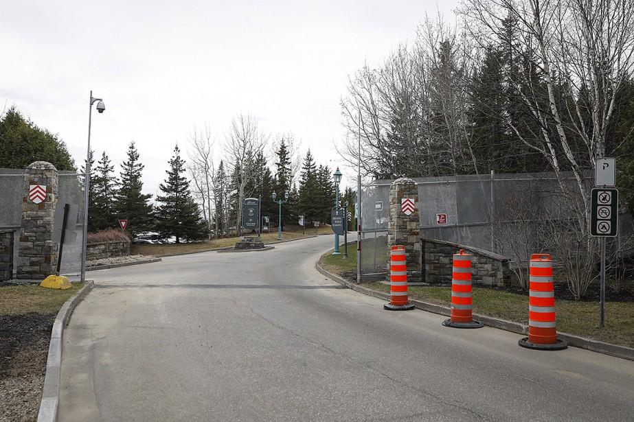 La clôture du G7, près du Manoir Richelieu.... (Mathieu Bélanger, collaboration spéciale)