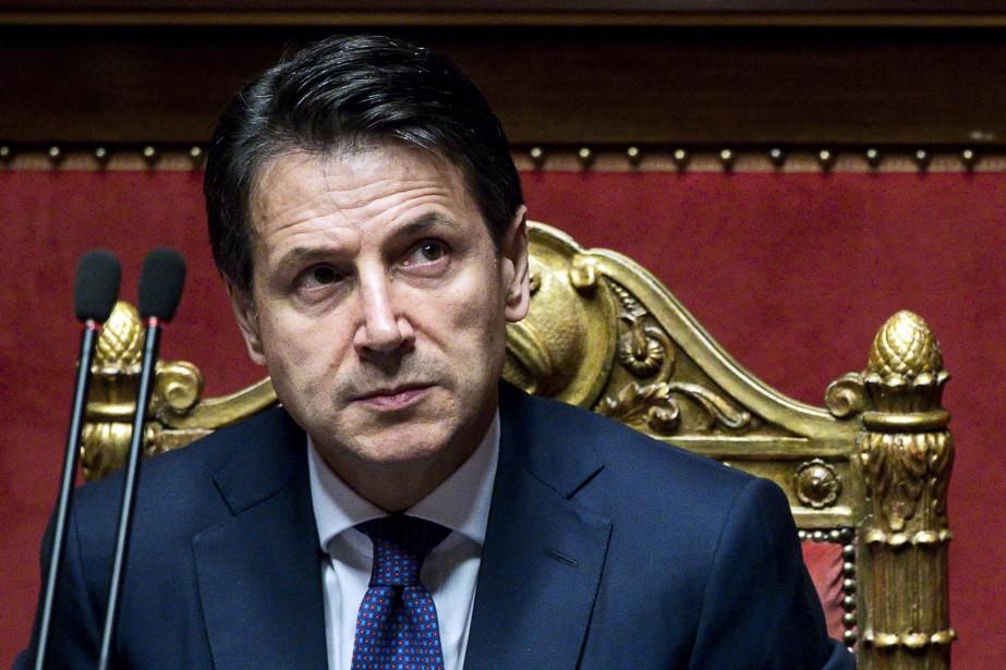 Le nouveau chef du gouvernement italien, Giuseppe Conte.... (Photo Angelo Carconi, AP)