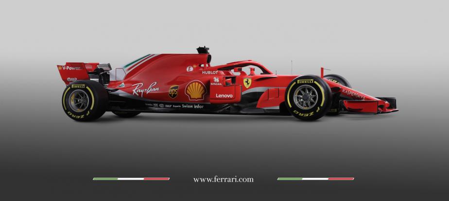 Ferrari SF71H - DIMENSIONS - Longueur:plus de 4000 mmLargeur:2200 mmHauteur:975 mmPoids:728kg | 5 juin 2018