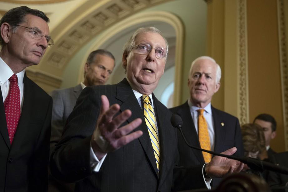 Le chef de la majorité républicaine au Sénat,... (PHOTO AP)