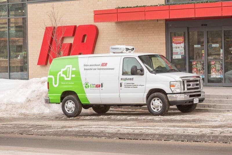 Une camionnette de livraison à moteur entièrement électrique... (Photo fournie par Sobeys)
