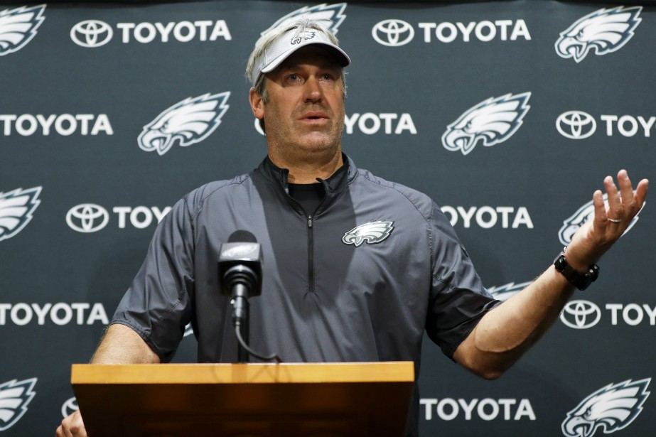 L'entraîneur-chef des Eagles de Philadelphie, Doug Pederson.... (Photo Matt Slocum, AP)