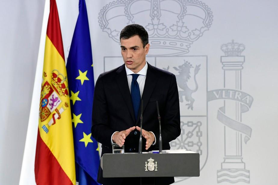 Le nouveau premier ministre espagnol Pedro Sanchez... (PHOTO JAVIER SORIANO, AFP)