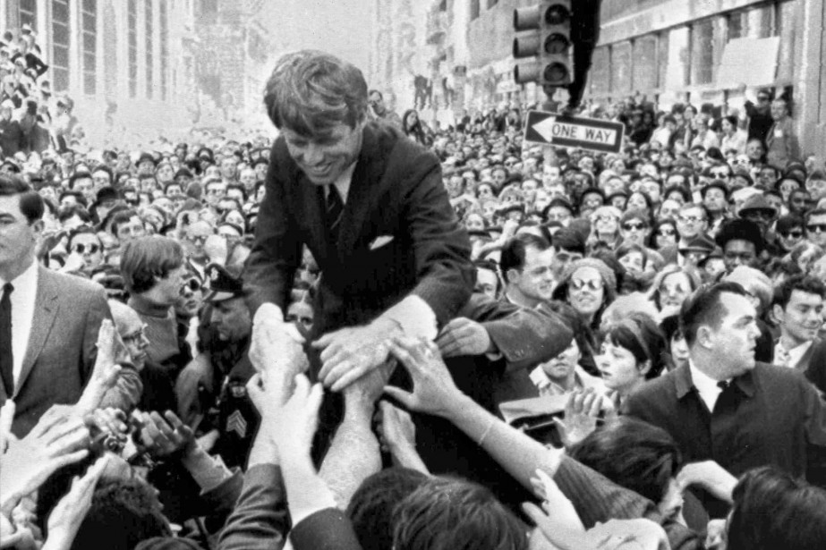 Robert F. Kennedy en avril 1968 à Philadelphie... (PHOTO Warren Winterbottom, ARCHIVES AP)