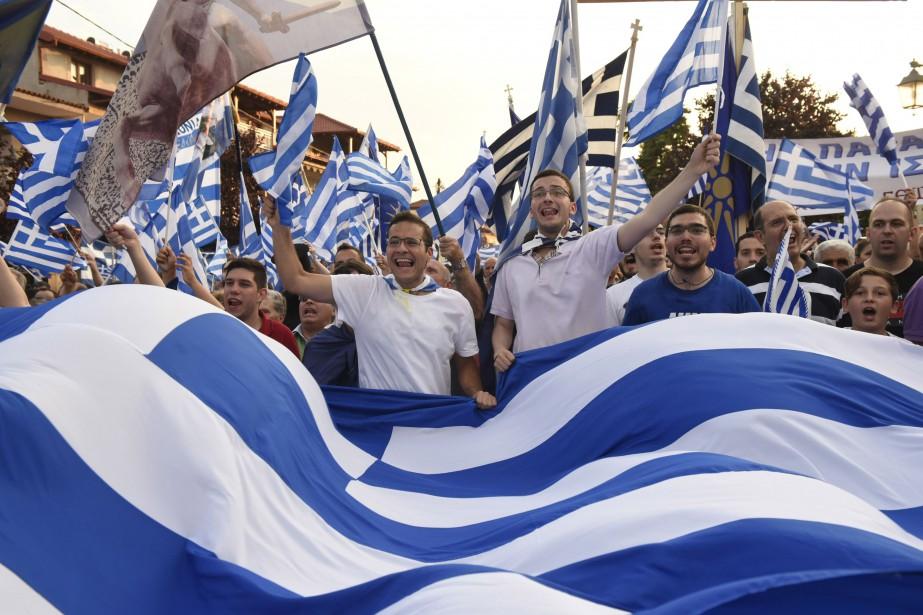 Quelque 2000 personnes se sont rassemblées à Pella,... (PHOTO REUTERS)