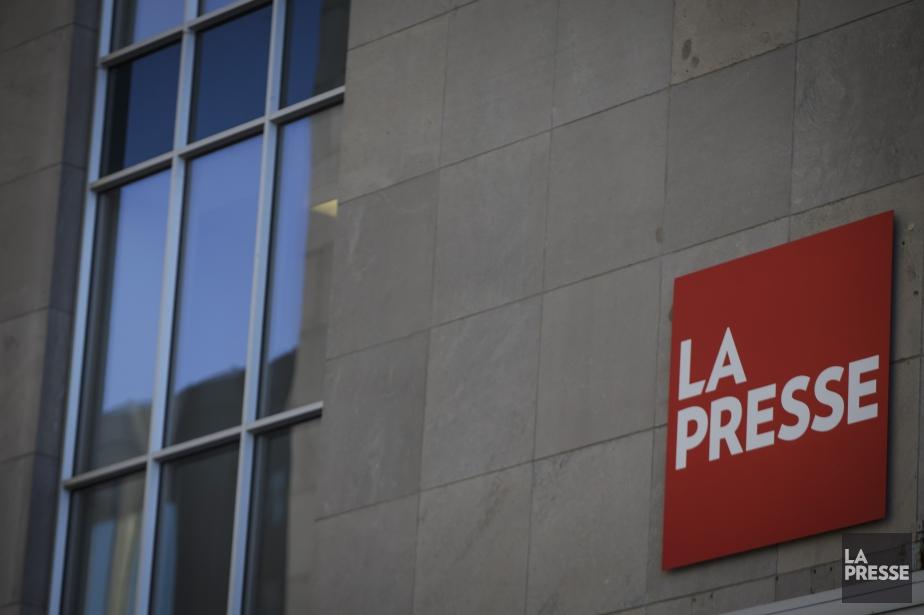Le logo de La Presse sur l'édifice.... (Olivier Jean, La Presse)