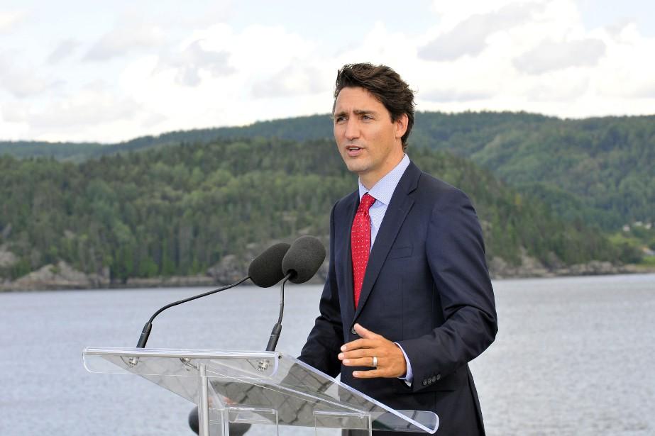 Justin Trudeau lors de son passage à Saguenay... (ARCHIVES LE QUOTIDIEN)