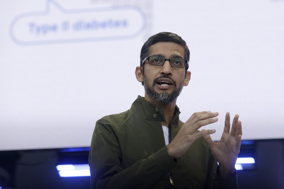 Le patron de Google Sundar Pichai.... (Photo Jeff Chiu, archives Associated Press)